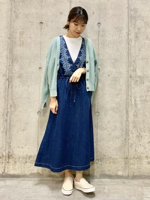 [URBAN RESEARCH Sonny Label] クロス刺繍デニムジャンパースカート