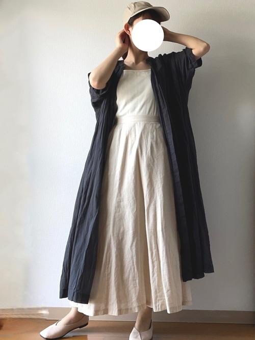 GUリネンブレンドスカート