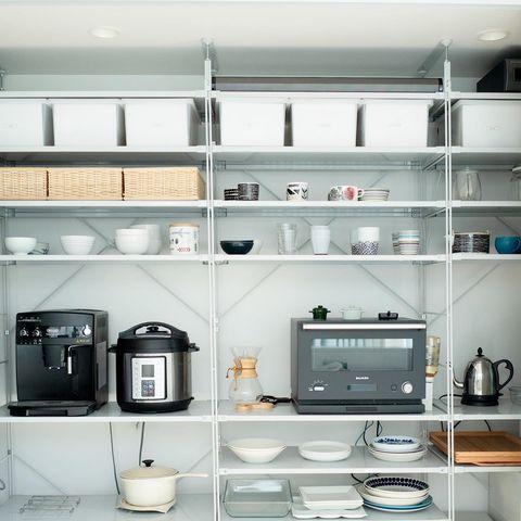 無印のキッチン背面収納