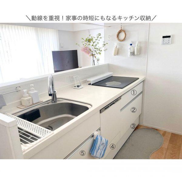 動線を重視したキッチン収納
