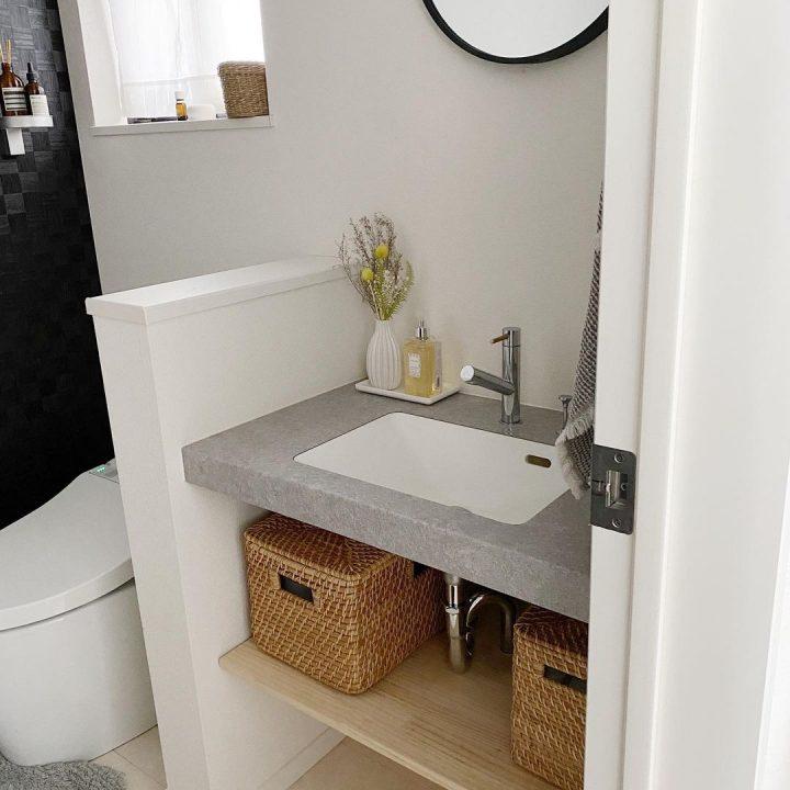 トイレの洗面台下に設置!