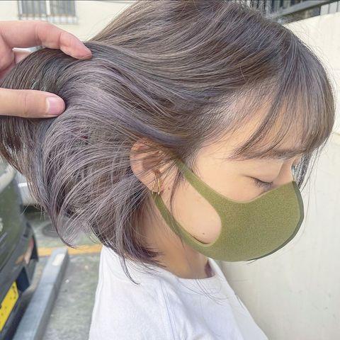 パールグレーが合うグラデーションヘアカラー