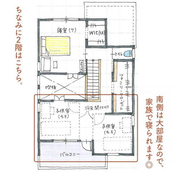 「アウトドアを、家でも気軽に」開放的なタイルデッキ間取り。3