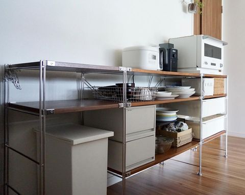 無印のキッチン背面収納15