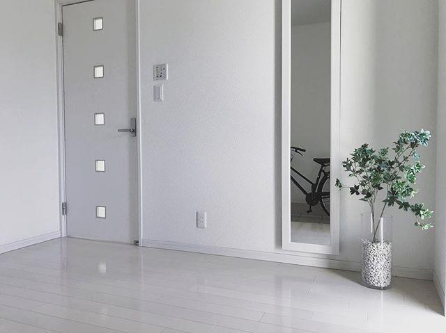 すっきりと整った玄関のインテリア実例