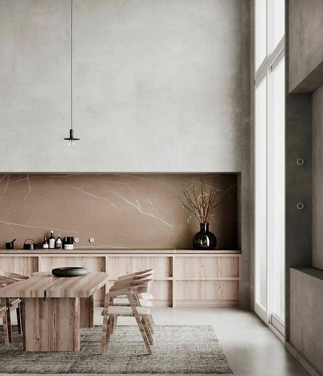 家具はアースカラー×モダンな自然素材