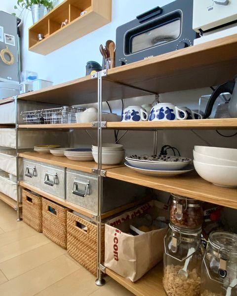無印のキッチン背面収納3