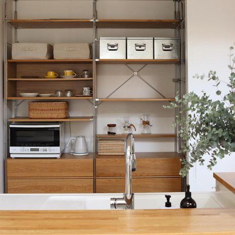 無印のキッチン背面収納2