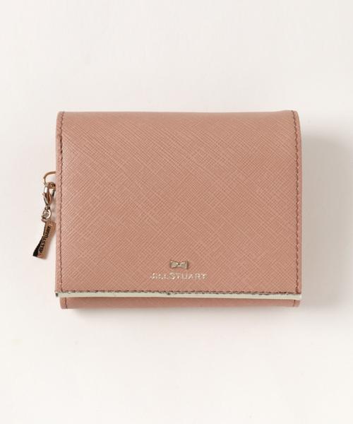 さりげないリボンモチーフが可愛いミニ財布