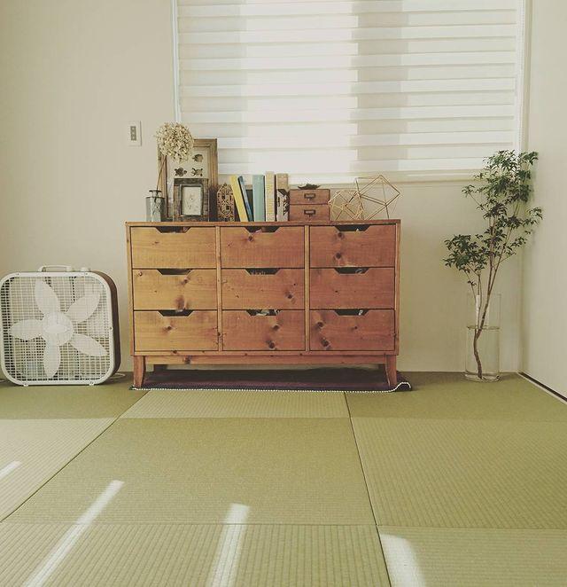おしゃれな引き出しのある和室に合う観葉植物の飾り方