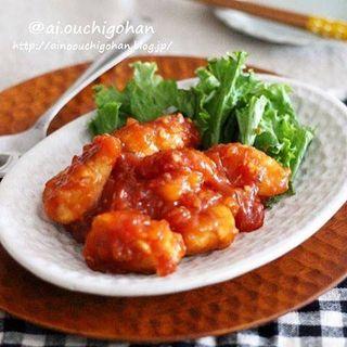 エビチリみたいな中華風♪ささみ鶏チリレシピ