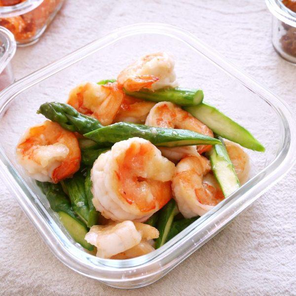 美味しい簡単副菜で作り置きも!えびの塩炒め