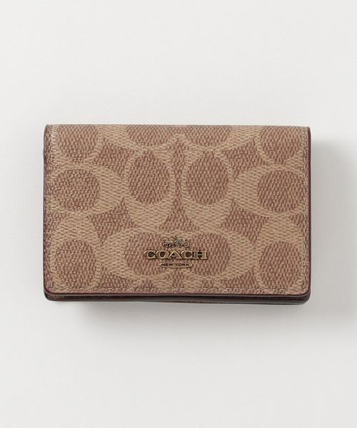 [COACH] ビジネス カード ケース シグネチャー キャンバス