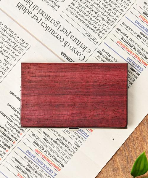 [Add+] ナチュラルウッドカードケース 木製 名刺入れ 天然木