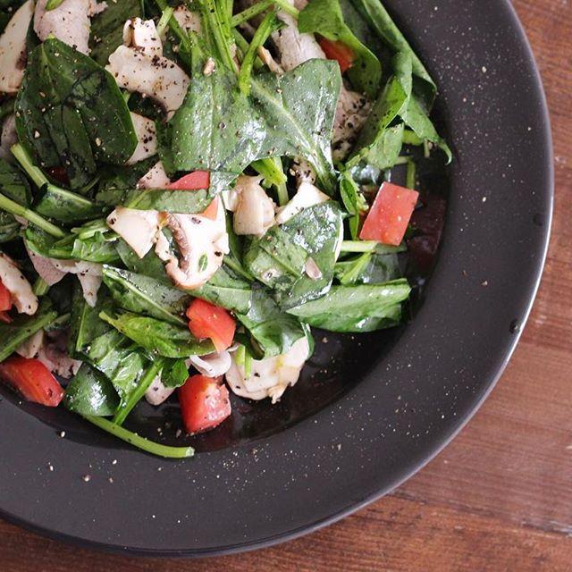 人気レシピ!サラダほうれん草のグリーンサラダ