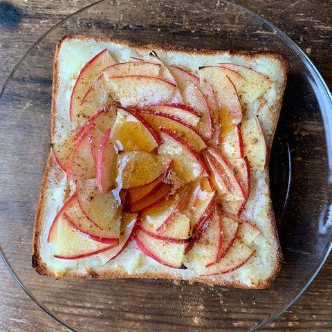 シナモン風味♡りんごチーズトーストレシピ