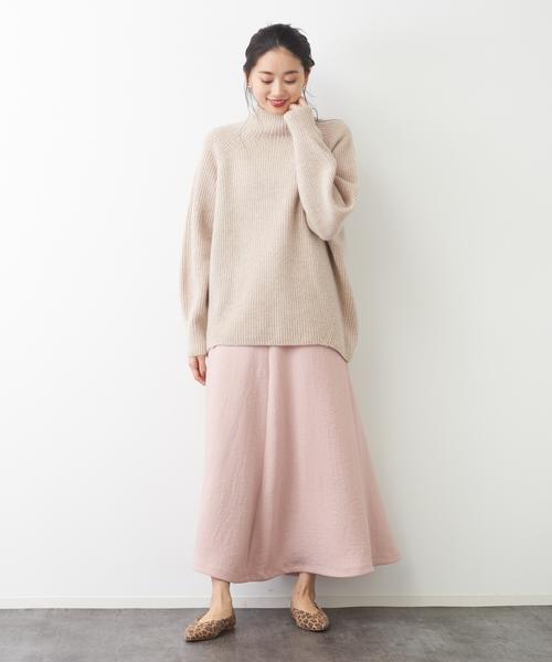[Rouge vif la cle] アンティークジョーゼットスカート