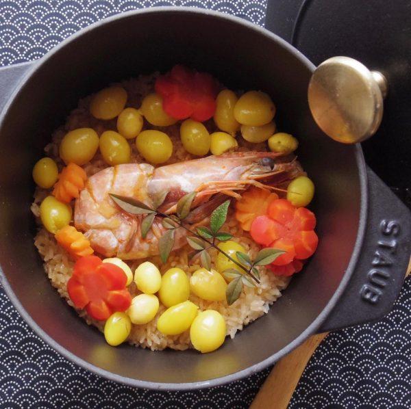 エビのうま煮の炊き込みご飯