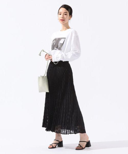 [SHIPS for women] ギンガムチェックプリーツスカート