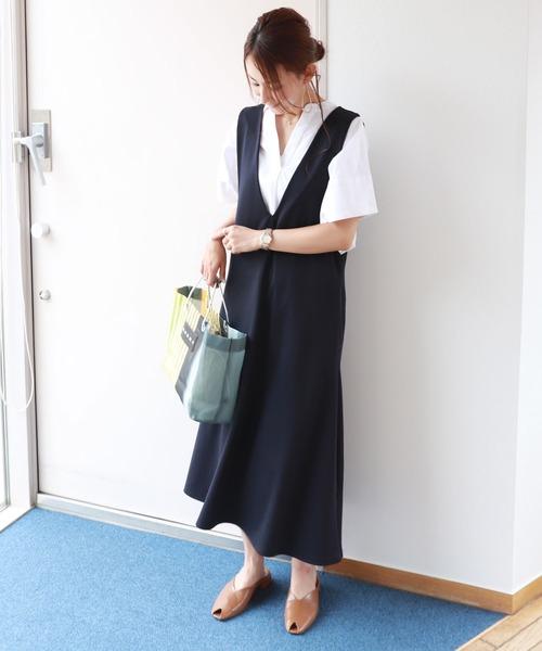 ジャンパースカート×シャツ