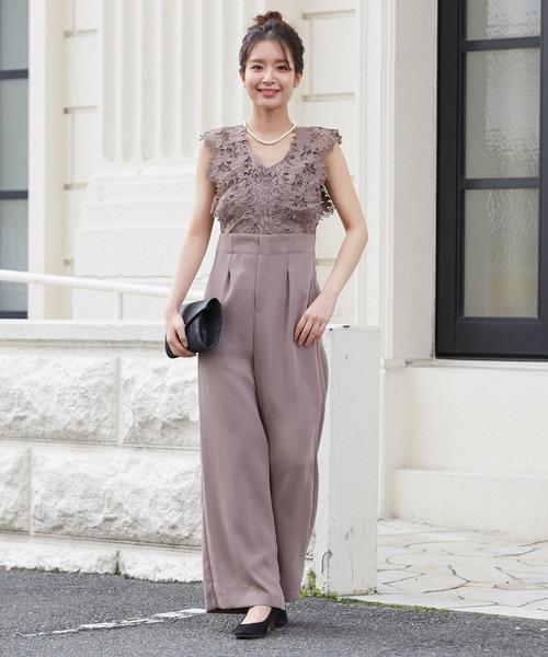 [form forma] 【WEB限定】Vネックオールインワンパンツドレス