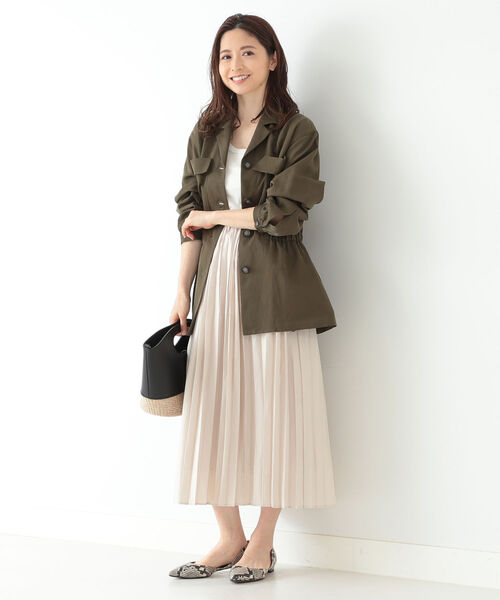 [BEAMS WOMEN] Demi-Luxe BEAMS / ボイル オーガンジースカート