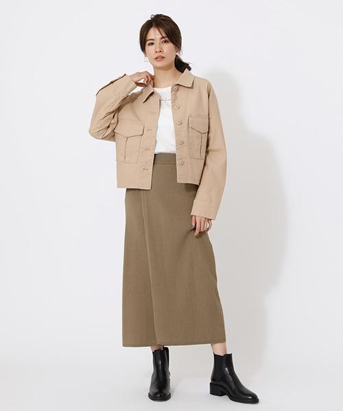 ダブルラップタイトニットスカート