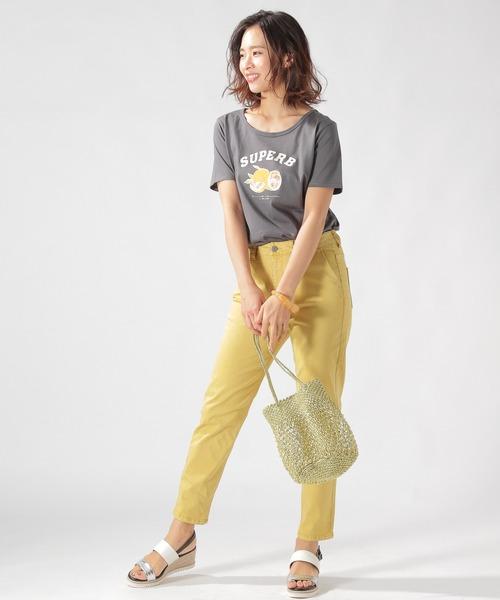 [BAYFLOW] カルフォルニアコットングラフィックTシャツT