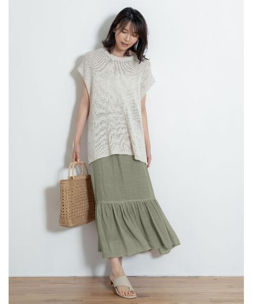 楊柳ロングマーメイドスカート