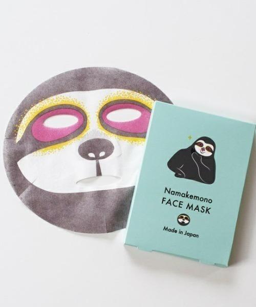 [BIRTHDAY BAR] フェイスマスク ナマケモノ / ローズorラベンダーの香り / FACE MASK