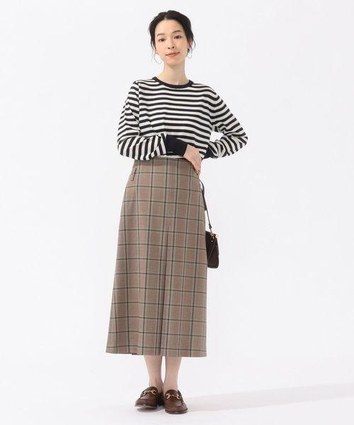 ボックスプリーツスカートのコーデ
