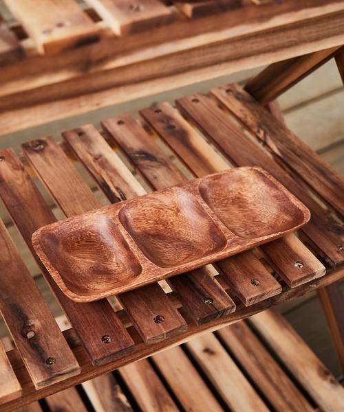 [CIAOPANIC TYPY] 〈木製食器・お皿〉アカシアレクタングルトレーM