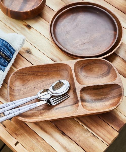[CIAOPANIC TYPY] 〈木製食器・お皿〉アカシアレクタングルトレーL