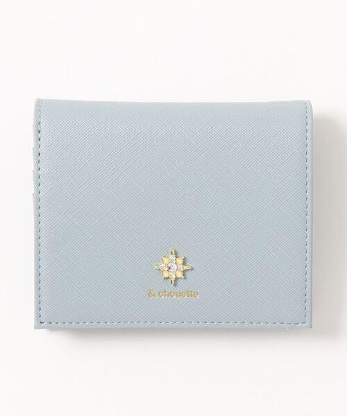 さりげないビジューモチーフが大人なミニ財布