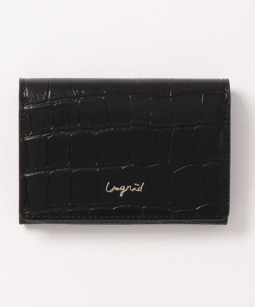 [SAC'S BAR Jean] 【Ungrid/アングリッド】 クロコ型押し カードケース