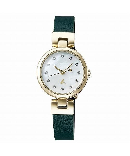 グリーン×ゴールドのシックな腕時計