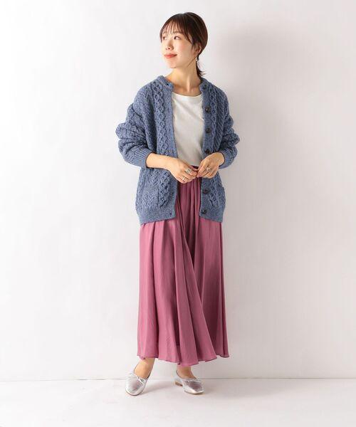 [SHIPS for women] SHIPS any: ドレープロングスカート