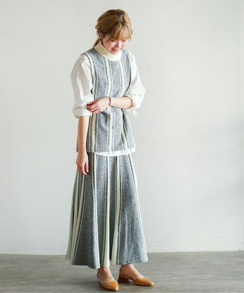 [NOMBRE IMPAIR] ヘリンボンジャガード ロングスカート