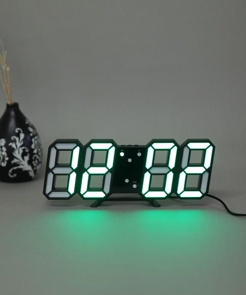 [florist] 大画面卓上デジタルおしゃれ目覚まし時計