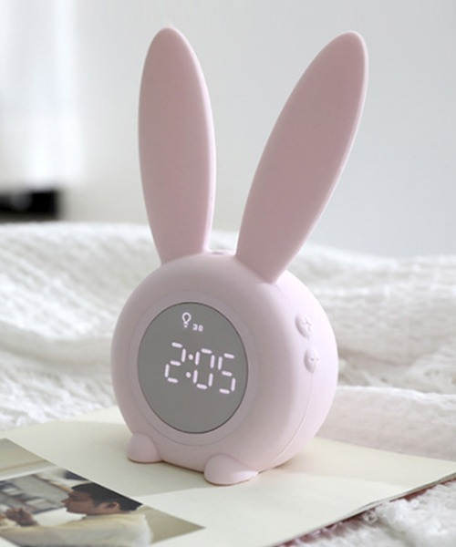 [florist] おしゃれかわいいうさぎ目覚まし時計
