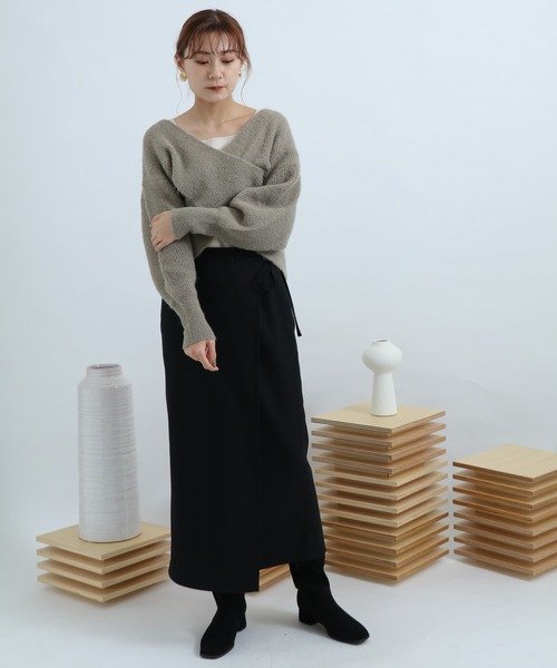 [SENSE OF PLACE by URBAN RESEARCH] NZウールラップスカート
