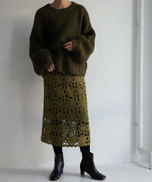 クロシェ編みスカート