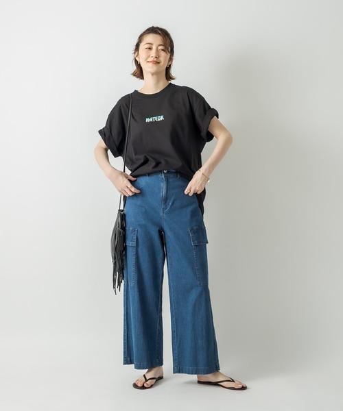 [RIVE DROITE] 【WEB限定】ライトオンスストレッチワイドデニムパンツ