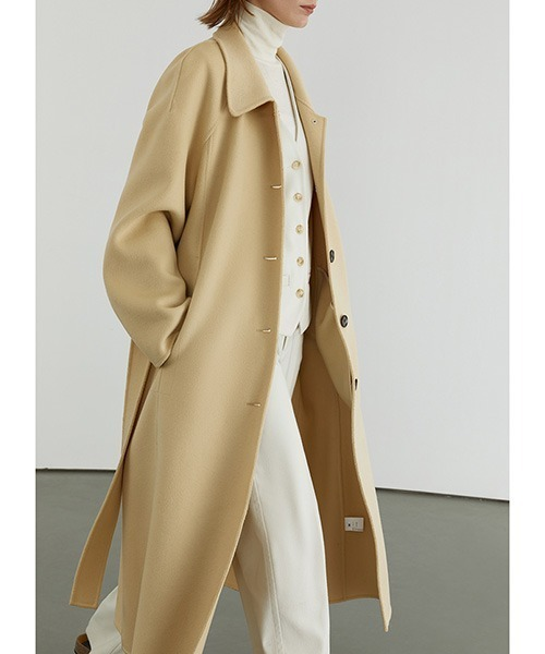 River tailored belted bal collar coat FD20W162