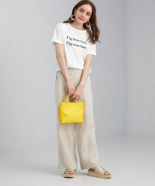 [green label relaxing] SC プリント クルーネック Tシャツ