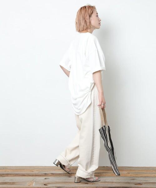 【FREAK'S STORE】ピグメントフットボールTシャツ