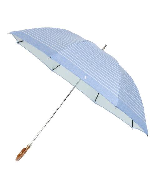 [MOONBAT] 晴雨兼用日傘 シャンブレー×ボーダー