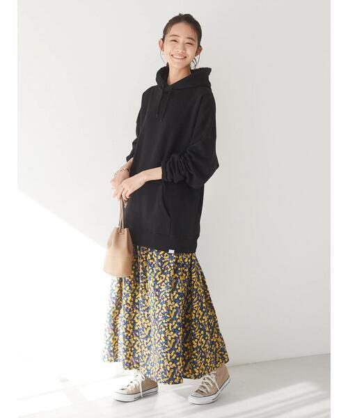 花柄ギャザースカート
