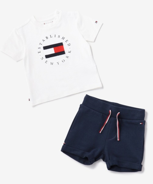[TOMMY HILFIGER] BABY ロゴTシャツ&ショーツセットアップ