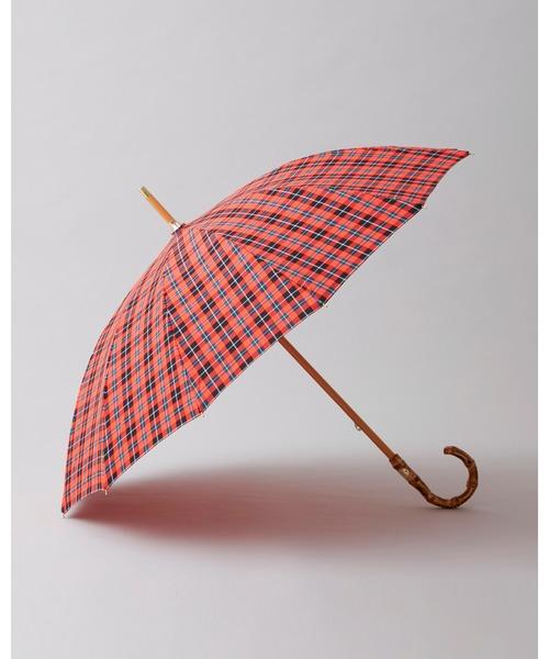 [Traditional Weatherwear] BAMBOO NEON CHECK UMBRELLA